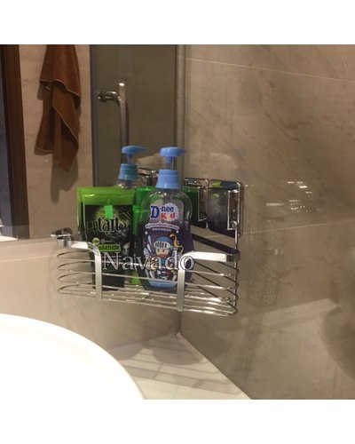 Kệ góc phòng tắm inox dính siêu chắc GS-5010