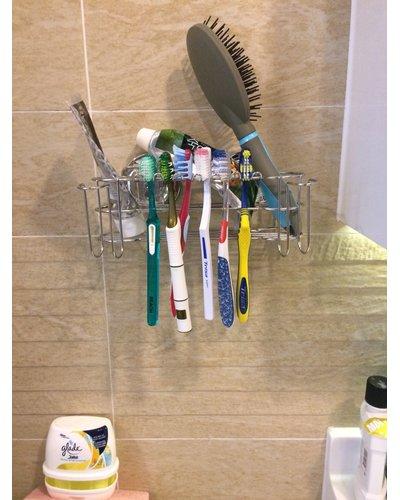 Phụ kiện phòng tắm kệ cốc đánh răng dán tường