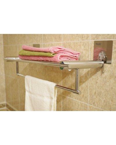 Phụ kiện phòng tắm vắt khăn giàn dán tường