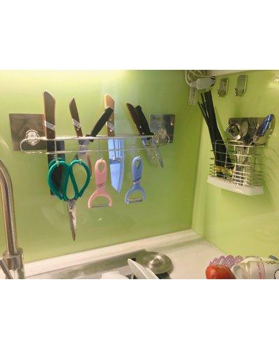 phụ kiện inox gia dụng cài dao dán kính màu bếp