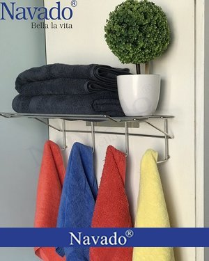 Giá treo khăn nhà tắm inox dán tường