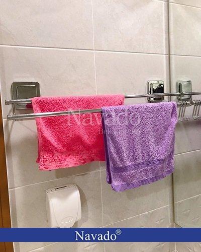 Giá vắt khăn đôiinox nhà tắm