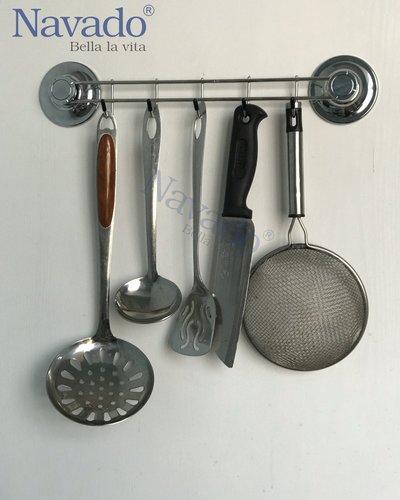Móc treo đồ đa năng inox nhà bếp