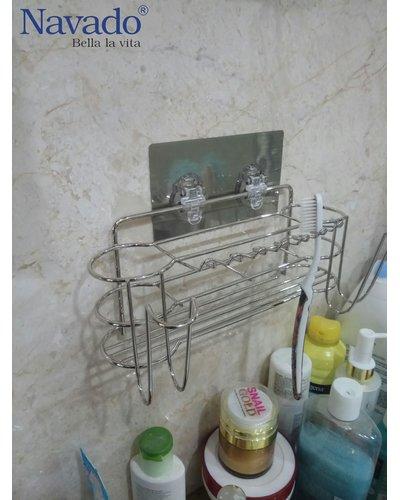 Kệ bàn chải đánh răng dính tường