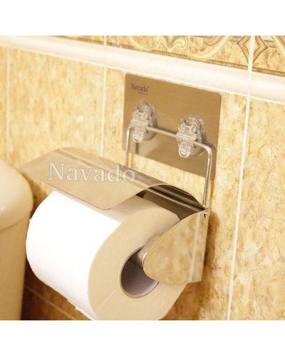 Lô giấy vệ sinh inox dán gạch men
