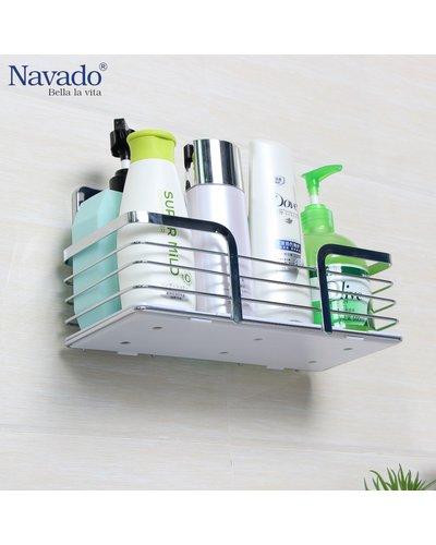 Kệ đựng đồ nhà tắm inox hình chữ nhật GS-5013
