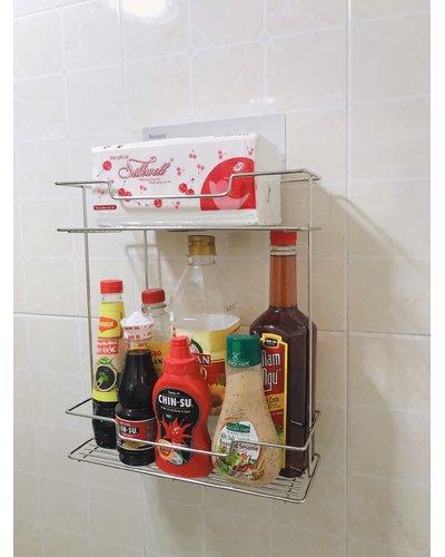 Kệ đựng đồ phòng bếp inox tiện ích