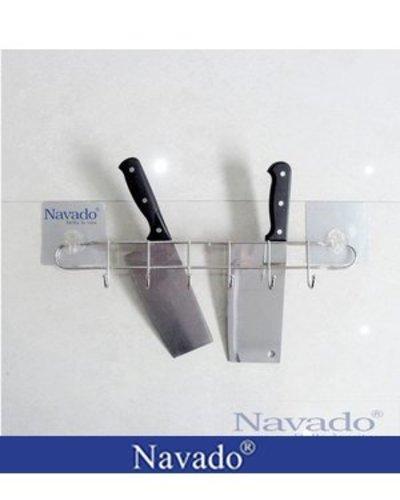 Kệ cài dao inox dán kính bếp
