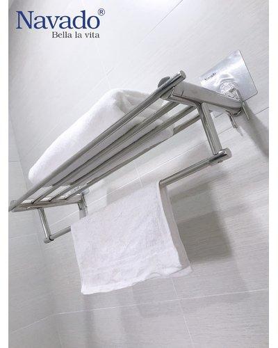Giá treo khăn inox dán tường siêu chắc