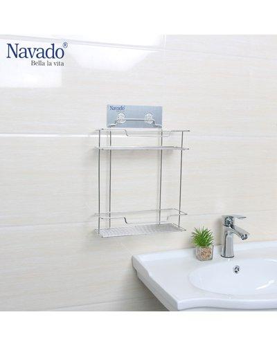 Kệ hai tầng để đồ trong nhà tắm gắn tường
