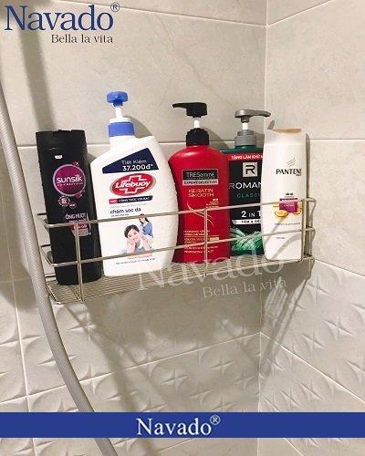Phụ kiện nhà tắm inox không cần khoan