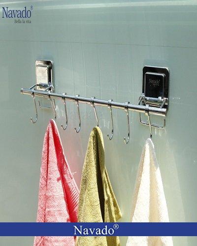 Vắt khăn đơn nhà tắm inox