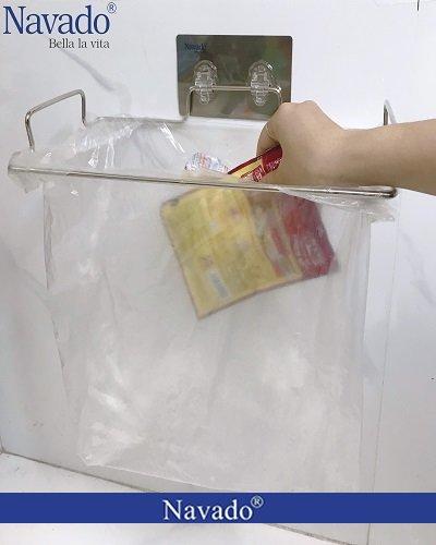 Giá treo túi đựng rác inox thông minh