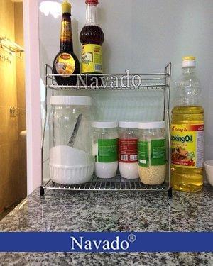 Kệ đựng gia vị trong tủ bếp inox