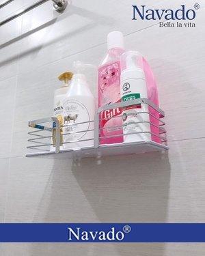 Kệ hình chữ nhật inox đựng đồ nhà tắm