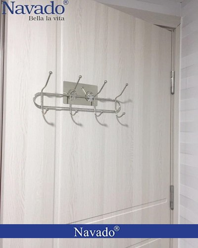 Móc treo đồ inox nhà tắm dán tường