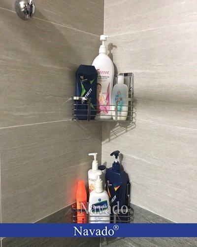 Phụ kiện phòng tắm inox góc một tầng navado