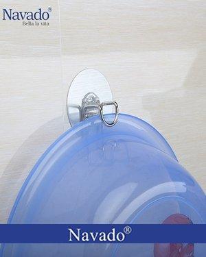 Phụ kiện phòng tắm móc chậu dán tường siêu bền