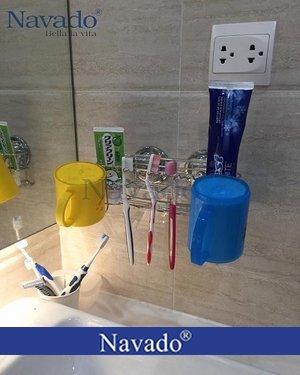 Phụ kiện inox đựng bàn chải đánh răng