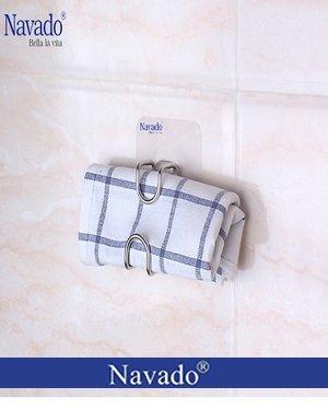 phụ kiện inox gia dụng treo khăn dán tường bếp