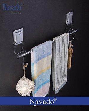 Phụ kiện phòng tắm vắt khăn đơn dán tường kính