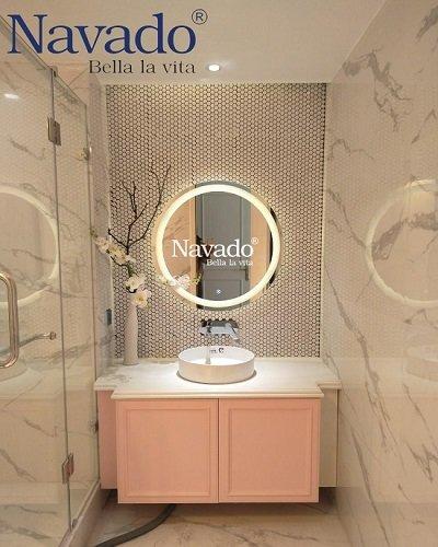 Gương bỉ nhà tắm cảm ứng có đèn led