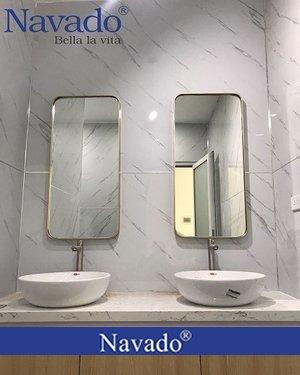 Gương nhà tắm khung inox không gỉ