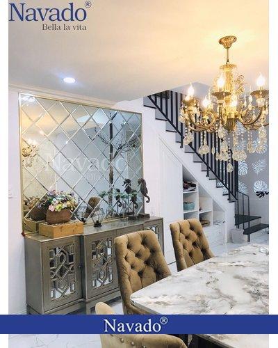 Gương ghép trang trí ưa chuộng cho phòng khách