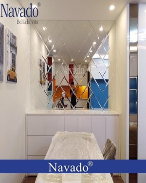 Gương ghép bàn ăn luxury