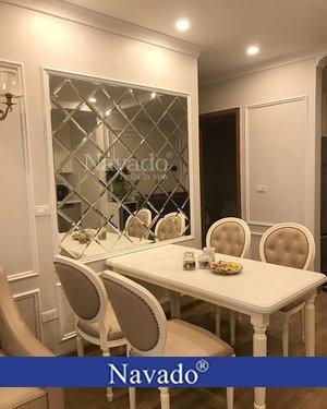Gương ghép ô dành cho bàn ăn