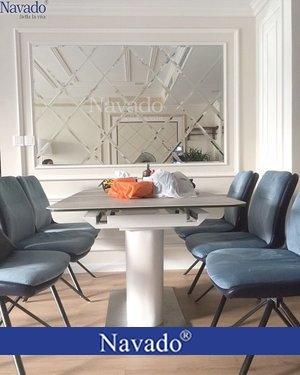 Gương ghép ốp tường cho phòng ăn