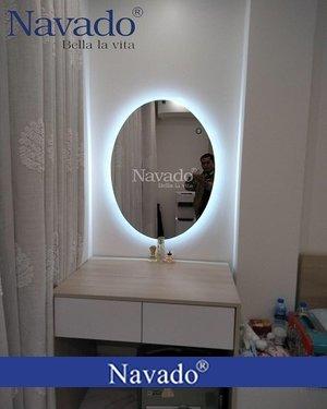 Gương make up đèn led hình elip
