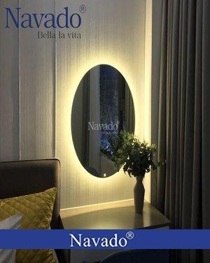 Gương bàn phấn hình elip có đèn led