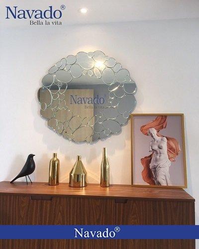 Gương decor trang trí phòng khách Queen
