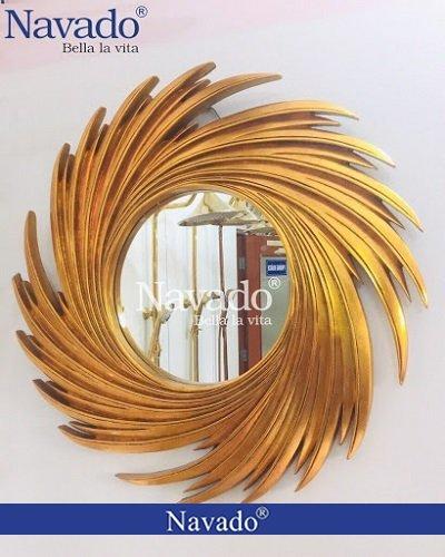 Gương tân cổ điển trang trí nghệ thuật Nut