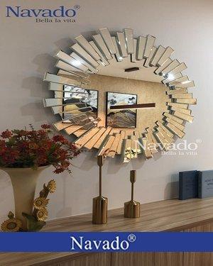 Gương trang trí phòng khách cao cấp lion