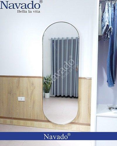 Gương soi toàn thân bọc da dán tường