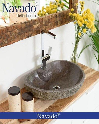 Chậu lavabo đá tự nhiên cho chung cư