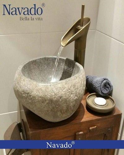 Chậu lavabo đá tự nhiên Hà Nội