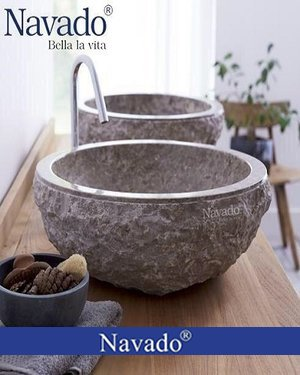 Chậu rửa mặt đá tự nhiên Nha Trang