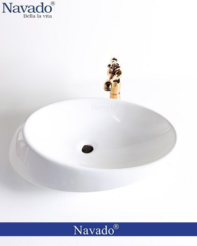 Bộ vòi chậu rửa lavabo sứ nghệ thuật phòng tắm luxury RS 1342A