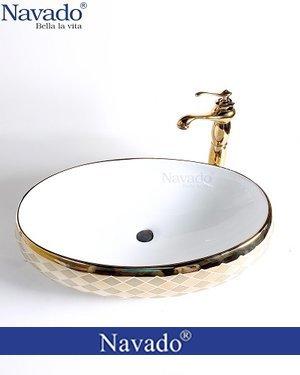 Bộ vòi chậu rửa lavabo sứ nghệ thuật cho khách sạn