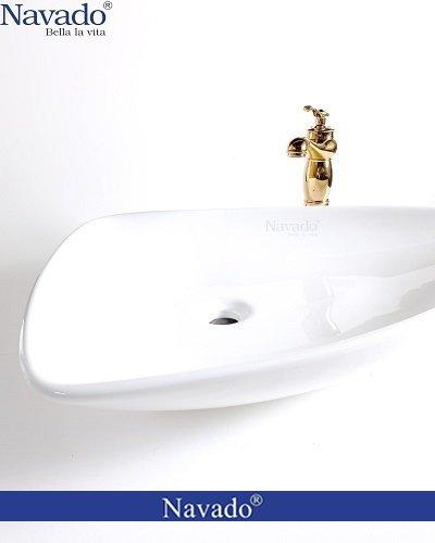 Bộ vòi chậu rửa lavabo sứ nghệ thuật cho khu nghỉ dưỡng