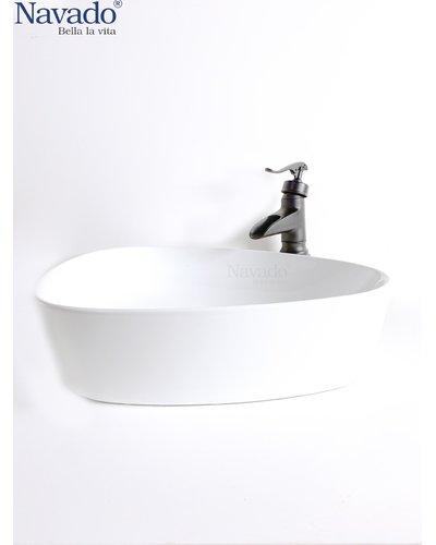 Bộ vòi chậu rửa lavabo sứ nghệ thuật cho homestay