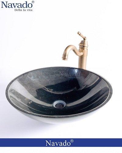Combo vòi chậu lavabo sứ nghệ thuật
