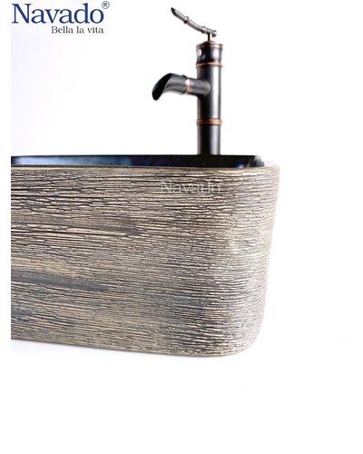 Phụ kiện phòng tắm bộ vòi chậu rửa mặt sứ nghệ thuật