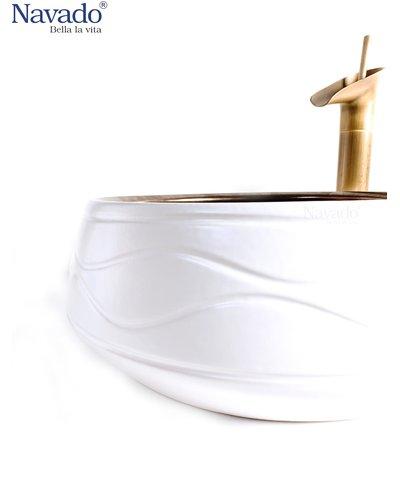 Combo vòi chậu rửa lavabo nghệ thuật phòng tắm