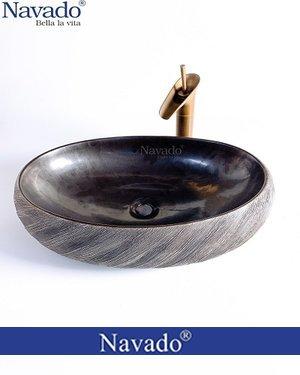 Bộ vòi chậu rửa lavabo sứ nghệ thuật nhà tắm