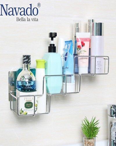 Kệ đựng đồ phòng tắm hình gấp khúc GS-5015