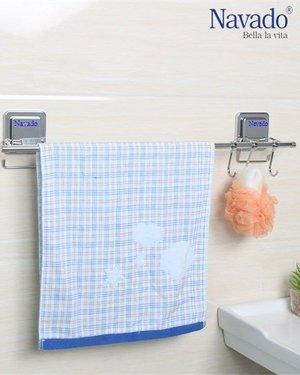 Kệ vắt khăn đơn inox phòng tắm GS-5008